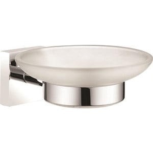 Мыльница Milardo Amur матовое стекло/хром (AMUSMG0M42) держатель для туалетной бумаги milardo amur хром amusmc0m43