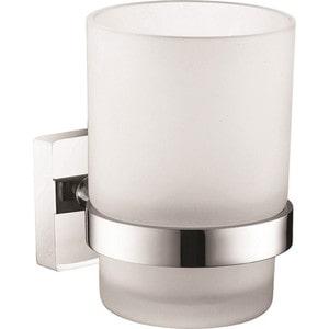 Стакан для зубных щеток Milardo Amur матовое стекло/хром (AMUSMG0M45) держатель для туалетной бумаги milardo amur хром amusmc0m43
