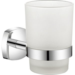 Стакан для зубных щеток Milardo Volga матовое стекло/хром (VOLSMG0M45)