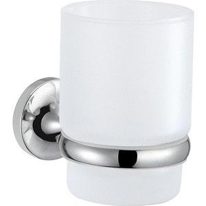 Стакан для зубных щеток Milardo Magellan матовое стекло/хром (MAGSMG0M45) подстаканник одинарный настенный milardo magellan magsmg0m45