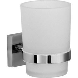 где купить Стакан для зубных щеток IDDIS Edifice матовое стекло/хром (EDIMBG1i45) по лучшей цене