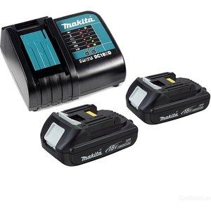 Зарядное устройство Makita DC18SD с 2 аккумуляторами 18В 1.5Ач BL1815N (197143-8) makita 18в 2 5ач nimh 1834 193102 0