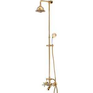 Душевая система Kaiser золото (90190-3 Gold)  душевая система коллекция cuatro 58182 двухвентильный хром kaiser кайзер