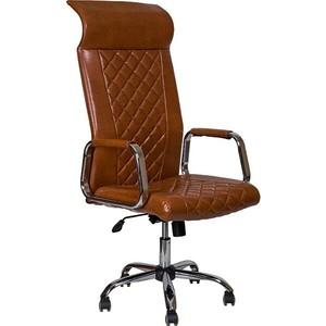 Кресло Алвест AV 136 CH (131) CX экокожа 220 коньяк компьютерное кресло алвест av 128 ch черное