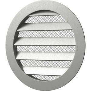 Решетка Era вентиляционная круглая D185 алюминиевая с фланцем D160 (16РКМ) комод 185 d com 2d3s 185
