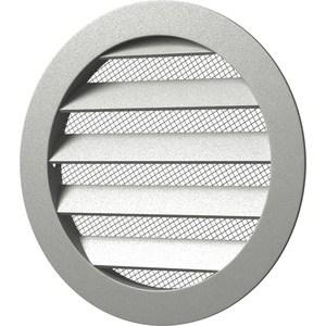 Решетка Era вентиляционная круглая D350 алюминиевая с фланцем D315 (315РКМ) решетка era вентиляционная профиль пвх 600х1200 бел п60120р