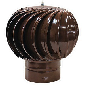 Турбодефлектор Era ТД-150 окрашеный металл RAL 8017 (ТД-150 8017) колпак на столб 400х400 коричневый ral 8017