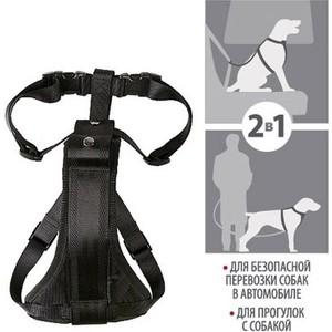 Шлейка GiGwi Pet Collars для автомобиля и переноски для средних собак (75176) поводок gigwi pet collars leads xl с петлей для больших собак 75175