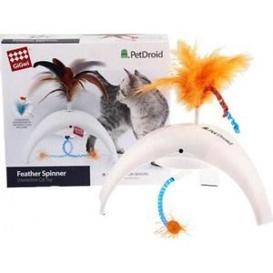 Игрушка GiGwi PetDroid Feathe Spinner интерактивная со звуковым чипом для кошек (75312) игрушка gigwi petdroid interactive mouse sound chip inside интерактивная мышка для кошек 75359