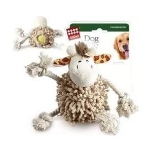 Игрушка GiGwi Dog Toys Squeaker жираф с теннисным мячом для собак (75072) игрушка gigwi dog toys squeaker тигр с пищалкой для собак 75098