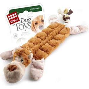 Игрушка GiGwi Dog Toys Squeaker обезьяна с 19-тью пищалками для собаки (75088) игрушка gigwi dog toys squeaker тигр с пищалкой для собак 75098