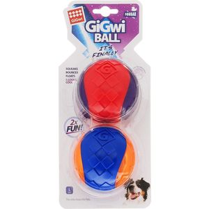 Игрушка GiGwi Ball Squeak игрушка мяч с пищалкой для собак (75336) игрушка для собак ziver осел длинноухий с пищалкой цвет голубой 18 см