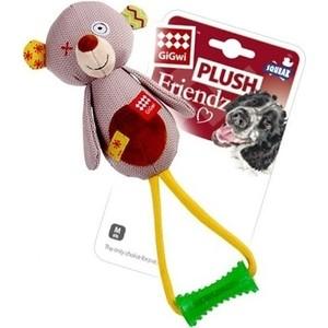 Игрушка GiGwi Plush Friendz Squeak медведь с пищалкой для собак (75348) игрушка gigwi jumball big ball is a good ball мяч с захватом для собак 75367