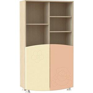 Шкаф для книг Compass ДК-4К абрикос шагрень/ваниль шагрень комплектующие для compass