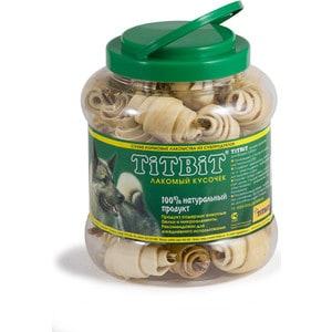 Лакомства TitBit Сухие лакомства из субпродуктов рогалики из кожи с начинкой для собак 4,3л (008096/0264) лакомства titbit fresh snack dental для собак мелких 11г 005293