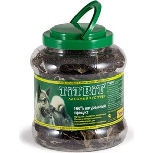 Лакомства TitBit Сухие лакомства из субпродуктов для собак лакомый кусочек рубец говяжий 4,3л (8829/4052)