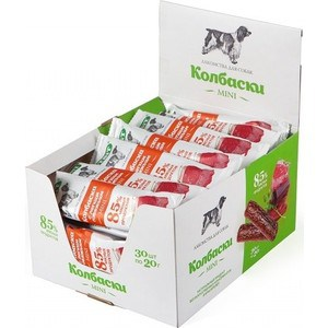 Лакомства TitBit Mini колбаски с легким говяжьим 85% мясных продуктов для собак (5219)
