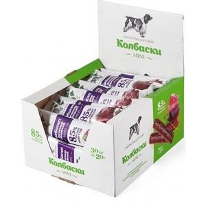 Лакомства TitBit Mini колбаски с печенью говяжьей 85% мясных продуктов для собак (5226)