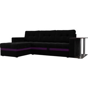 Фотография товара диван угловой АртМебель Атлант микровельвет черный левый (683756)