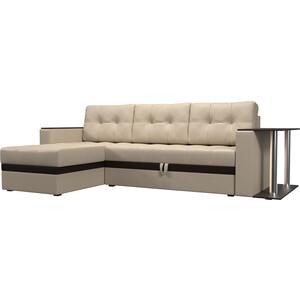 Фотография товара диван угловой АртМебель Атланта эко кожа бежевый левый (683758)
