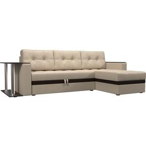 Фотография товара диван угловой АртМебель Атлант эко кожа бежевый правый (683759)