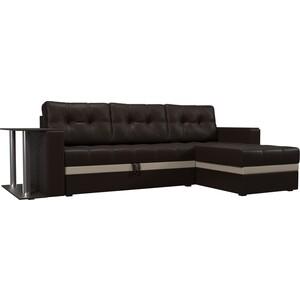 Фотография товара диван угловой АртМебель Атланта эко кожа коричневый правый (683761)