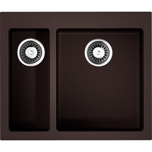 Фотография товара кухонная мойка Omoikiri Bosen 59-2-DC, 590х500, темный Шоколад (4993223) (683916)