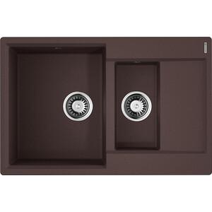 Кухонная мойка Omoikiri Daisen 78-2-DC, 780х510, темный Шоколад (4993333) кухонная мойка omoikiri daisen 78 ca 780х510 карамель 4993324