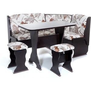 Набор мебели для кухни Бител Орхидея - однотонный (венге, замша 642 Париж, венге) набор мебели для кухни бител орхидея однотонный венге борнео умбер венге