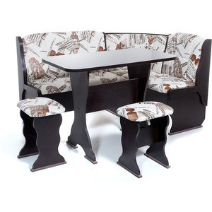 Набор мебели для кухни Бител ОРХИДЕЯ -ОДНОТОН (ВЕНГЕ, замша 642 Париж, ВЕНГЕ)