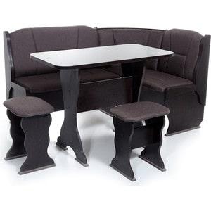 Набор мебели для кухни Бител ОРХИДЕЯ -ОДНОТОН (ВЕНГЕ, ТР-2 Тринити шоколад, ВЕНГЕ)