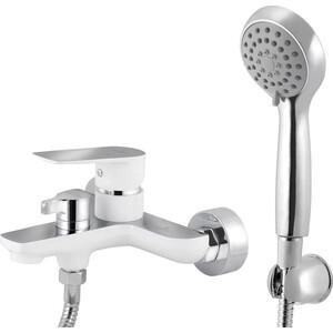Смеситель для ванны Kaiser Atrio короткий излив, белый/хром с душем, хром (60022) цены онлайн