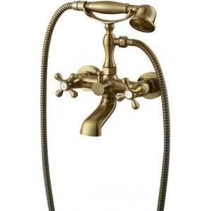 Смеситель для ванны Kaiser Carlson Style короткий излив, бронза Bronze глянцевая (44322-1G)  смеситель для мойки коллекция athlete 19044 1g однозахватный глянцевая бронза kaiser кайзер