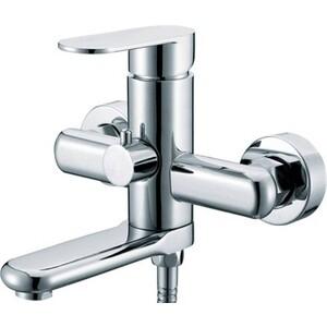 Смеситель для ванны Kaiser Arena короткий излив с душем, хром (33022) смеситель для мойки коллекция arena 33144 однорычажный хром kaiser кайзер