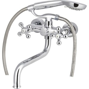 Смеситель для ванны Kaiser Carlson Lux хром (11255)  смеситель для ванны коллекция carlson 11055 двухвентильный хром kaiser кайзер