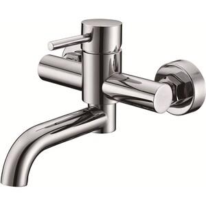 Смеситель для ванны Kaiser Merkur короткий излив поворотный излив с душем, хром (26055) смеситель для раковины kaiser merkur парикмахерский хром 26366