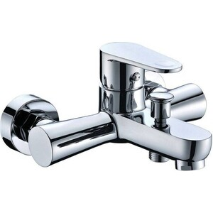 Смеситель для ванны Kaiser County короткий излив с душем, хром (55222) смеситель для ванны kaiser orbit короткий излив с душем хром 20022