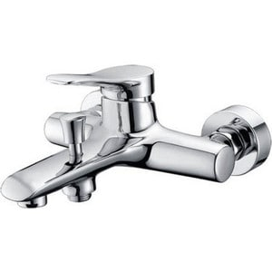 Смеситель для ванны Kaiser Sena короткий излив с душем, хром (74022) смеситель для ванны kaiser orbit короткий излив с душем хром 20022