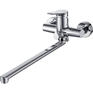 Смеситель для ванны Kaiser Sena L-40cm с душем, хром (74055) излив для смесителя l 40 см хром kaiser кайзер