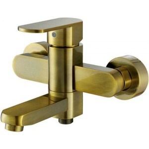 Смеситель для ванны Kaiser Sonat короткий излив, c душем, бронза Bronze (34022-1Br) смеситель для мойки коллекция sonat 34010 1g однорычажный античная бронза kaiser кайзер