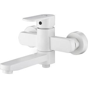 Смеситель для ванны Kaiser Sonat короткий излив, с душем, белый (34022L-4) смеситель для мойки коллекция sonat 34044 8 однорычажный песочный kaiser кайзер