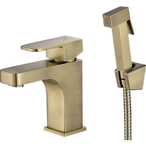 Смеситель для раковины Kaiser Sonat с гигиеническим душем, бронза Bronze (34088-1) смеситель для мойки коллекция sonat 34010 1g однорычажный античная бронза kaiser кайзер