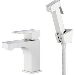 Смеситель для раковины Kaiser Sonat с гигиеническим душем, белый (34088-4) смеситель для раковины kaiser sonat с гигиеническим душем хром 34088