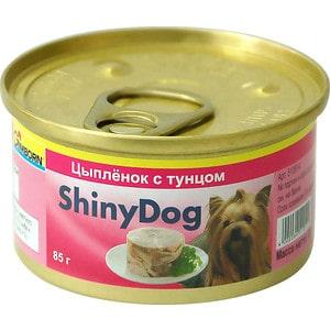 Фото - Консервы Gimborn ShinyDog цыплёнок с тунцом для собак 85г (510279/510514) trixie стойка с мисками trixie для собак 2х1 8 л