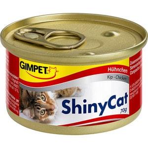 Консервы Gimborn Gimpet ShineCat Chicken цыпленок для кошек 70г (413310) gimpet shinycat консервированный корм для кошек тунец цыпленок 70 г