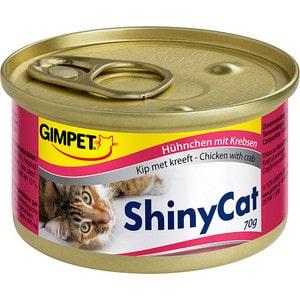 Консервы Gimborn Gimpet ShineCat Chicken with Crab цыпленок с крабом для кошек 70г (413334) gimpet shinycat консервированный корм для кошек тунец цыпленок 70 г