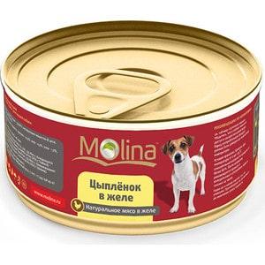 Консервы Molina Натурально мясо в желе цыпленок для собак 85г (1006)