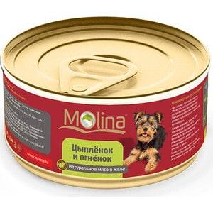 Консервы Molina Натурально мясо в желе цыпленок и ягненок для собак 85г (1020)