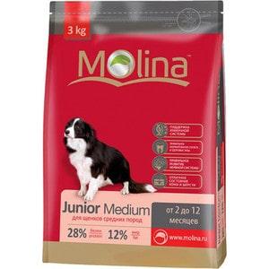 Фотография товара сухой корм Molina Junior Medium с птицей для щенков средних пород от 2 до 12 месяцев 3кг (650883) (684660)