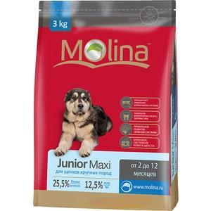 Фотография товара сухой корм Molina Junior Maxi с птицей для щенков крупных пород от 2 до 12 месяцев 3кг (650906) (684662)